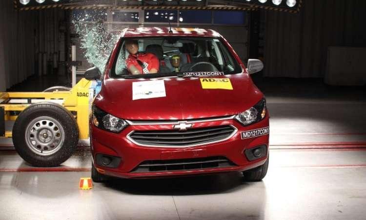 Chevrolet Onix tem nota aumentada no teste de impacto - LatinNCAP/Divulgação