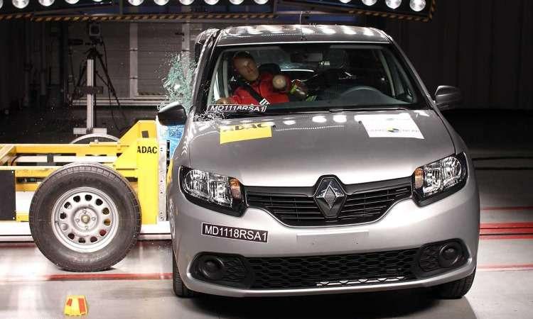 Renault tira nota baixa no teste do LatinNCAP - LatinNCAP/Divulgação