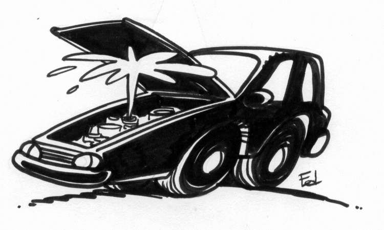 Se o motorista não cuida bem do carro, no calor ele pode ferver e até fundir o motor - Ilustração/Ed