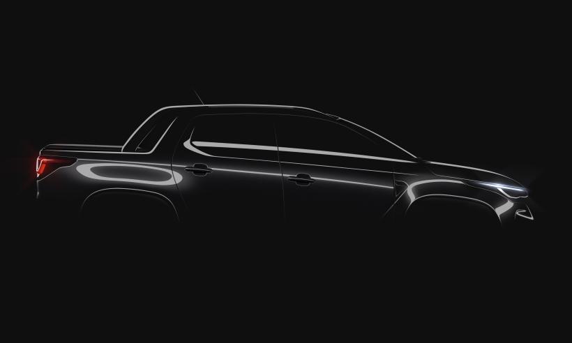 Teaser da segunda geração da Fiat Strada revela que picape será mesmo uma mini-Toro