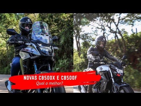 NOVAS HONDA CB500X E CB500F: qual a melhor?