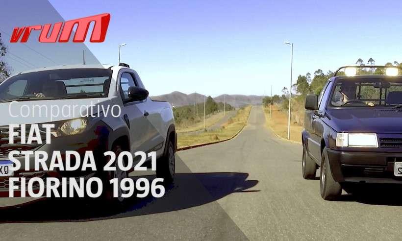 Encontro de gerações: Nova Fiat Strada x Picape Fiorino Trekking 1996