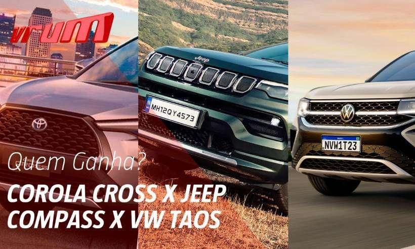 Quem leva a melhor, Toyota Corolla Cross, Volkswagen Taos ou Jeep Compass?