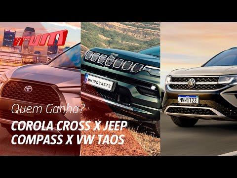 Papo de estúdio:  Corolla Cross x VW Taos x Jeep Compass. Qual melhor SUV médio?
